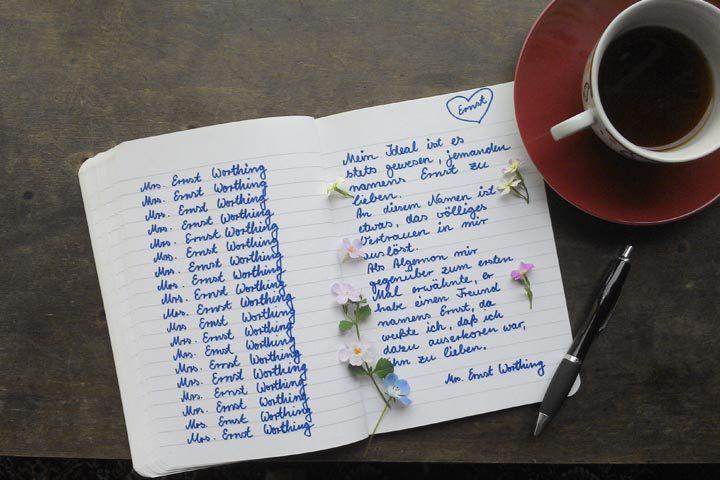 Schreiben über Bunbury oder Ernst will geübt sein